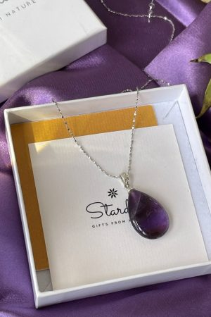 Drop Amethyst necklace Stardust gift