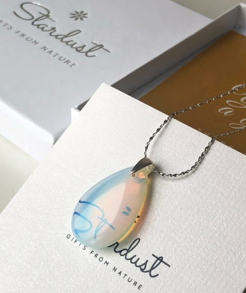 Drop Opalite pendant  for womne