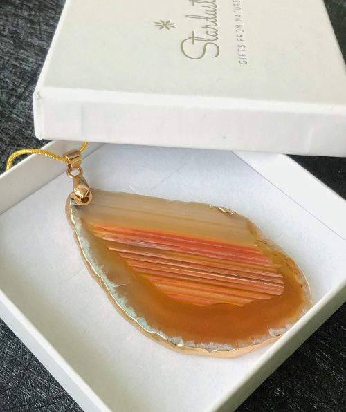 orange agate slice