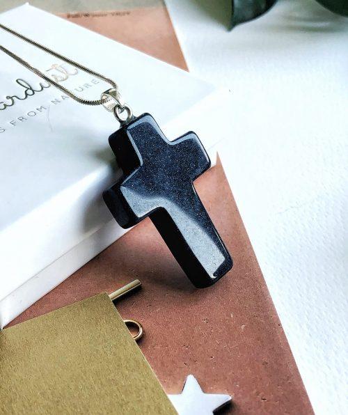 Sandstone cross pendant
