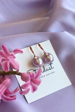 pink pearl earrings for women