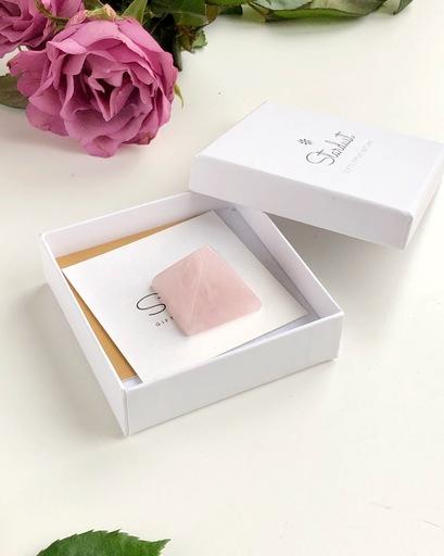 Rose Quartz pyramid gift box
