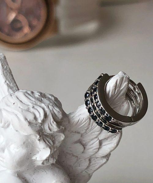 Minimalist zircon hoop earrings
