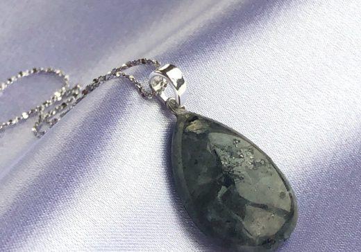 spectrolite drop pendant necklace