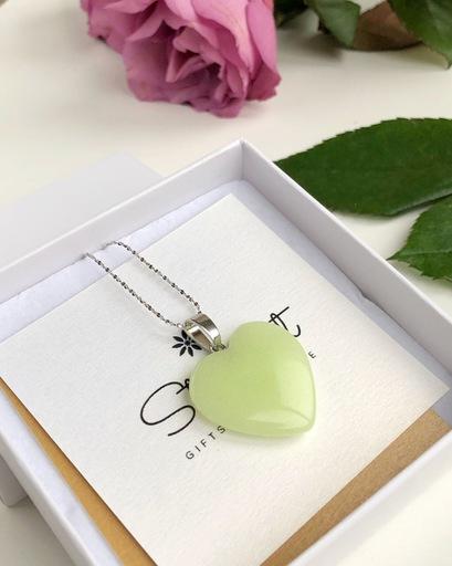 Ligh Green heart pendant