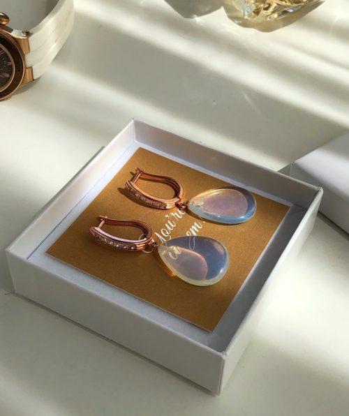 Evening dangle earrings Opalite