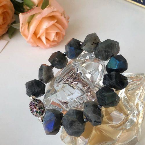 Blue Labradorite bracelet Stardust