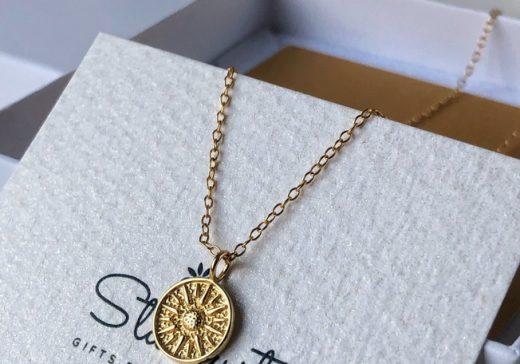Premium quality gold disc pendant