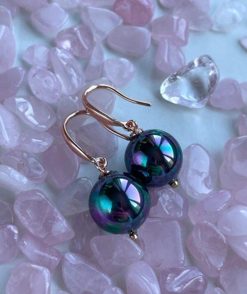 Evening pearl earrings