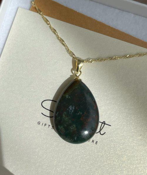 Luxury bloodstone pendant