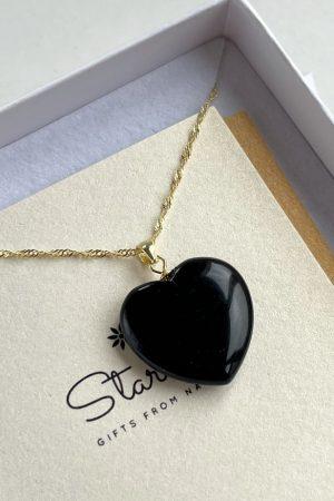 Small Obsidian pendant Stardust