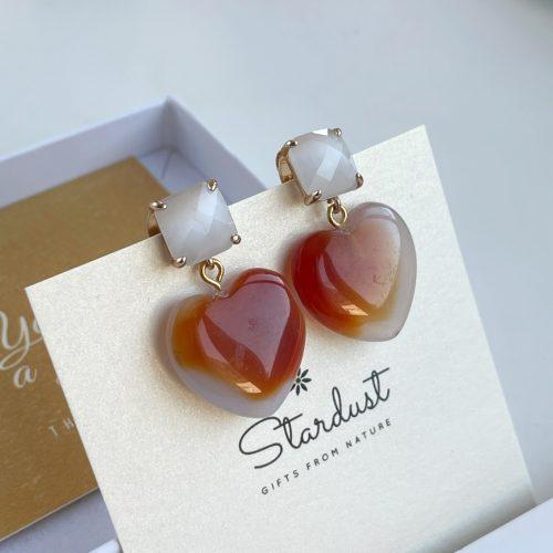 Heart Carnelian earrings Stardust