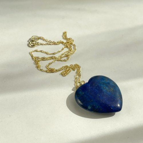 Lapis Lazuli heart gift for girlfriend