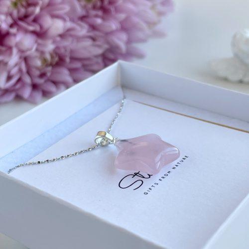 Rose Quartz Star pendant luxury gift