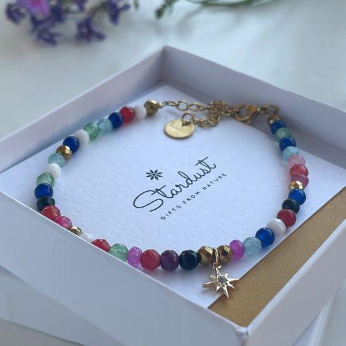 Tiny natural stone bracelet
